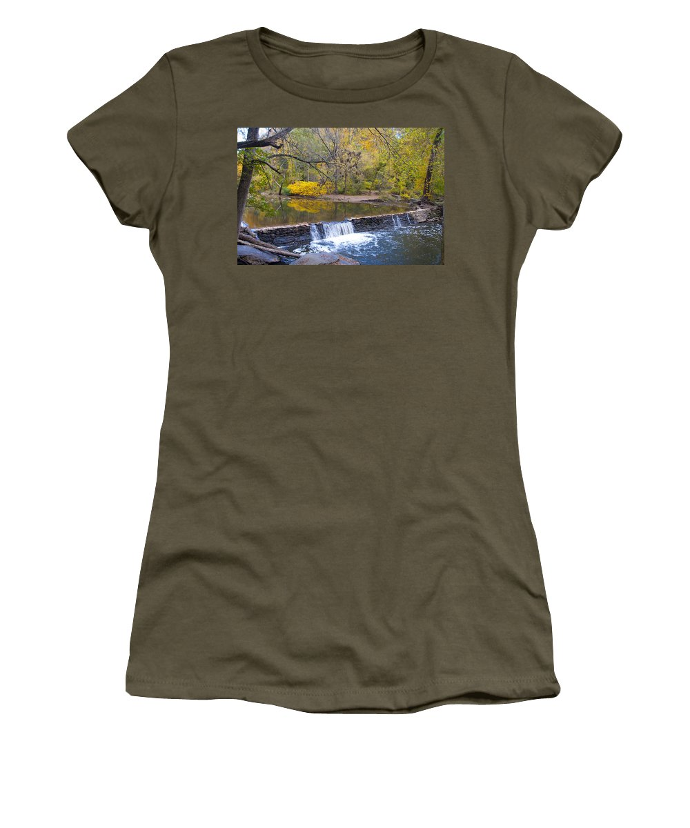 Thomas' Women's T-Shirt featuring the photograph Thomas' Mill Dam by Bill Cannon