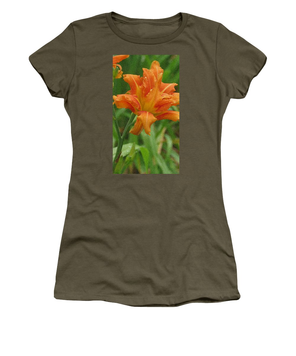 Tiger Lily Women's T-Shirt (Athletic Fit) featuring the photograph Tiger Lily by Kay Novy