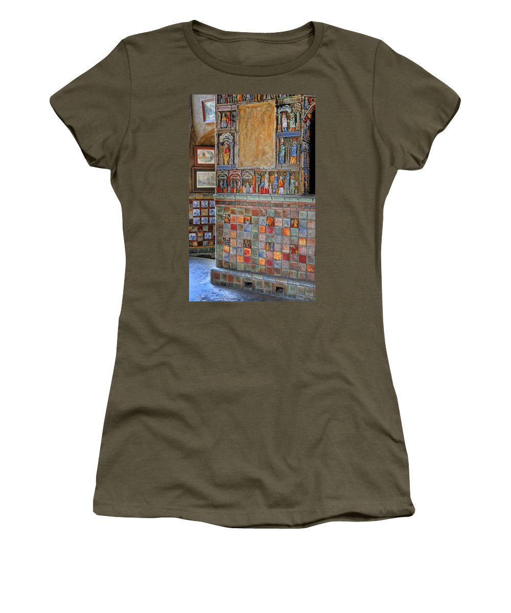 Castle Women's T-Shirt featuring the photograph Tilework At The Castle by Dave Mills