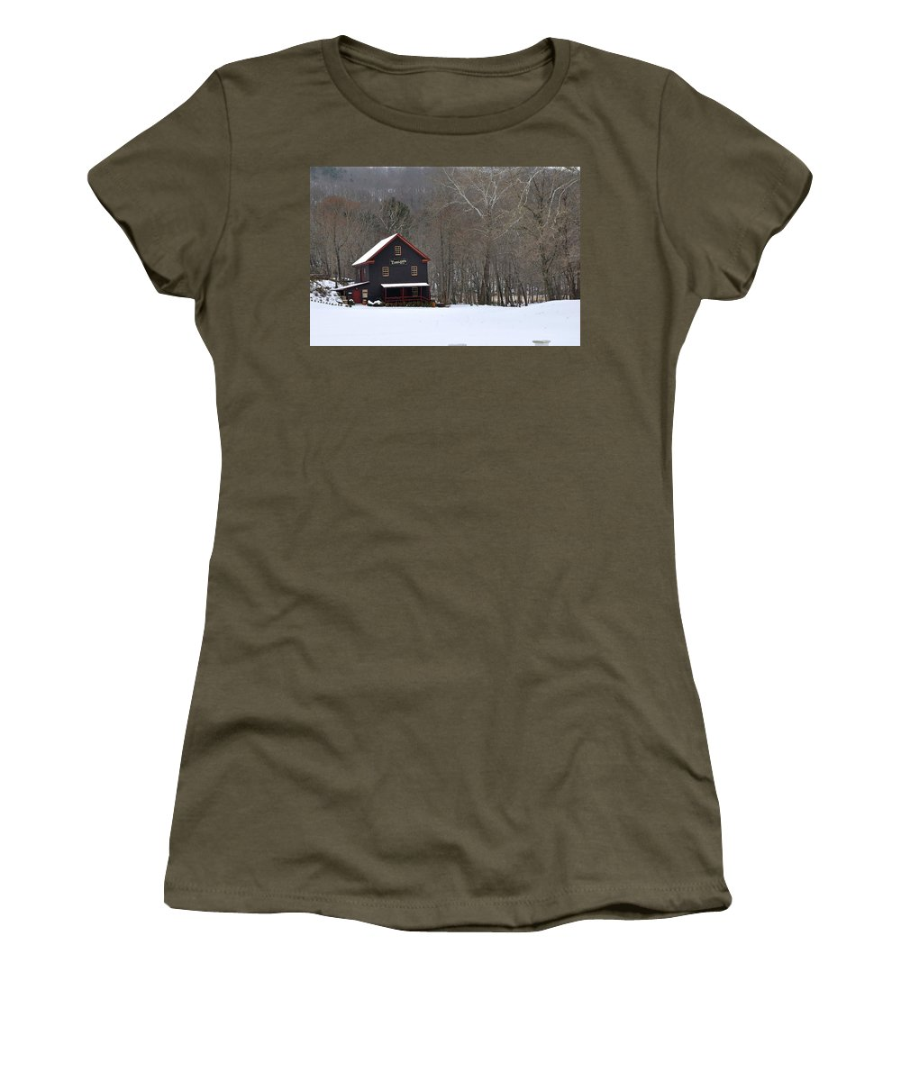 Tinglers Mill Women's T-Shirt (Athletic Fit) featuring the photograph Tinglers Mill by Todd Hostetter