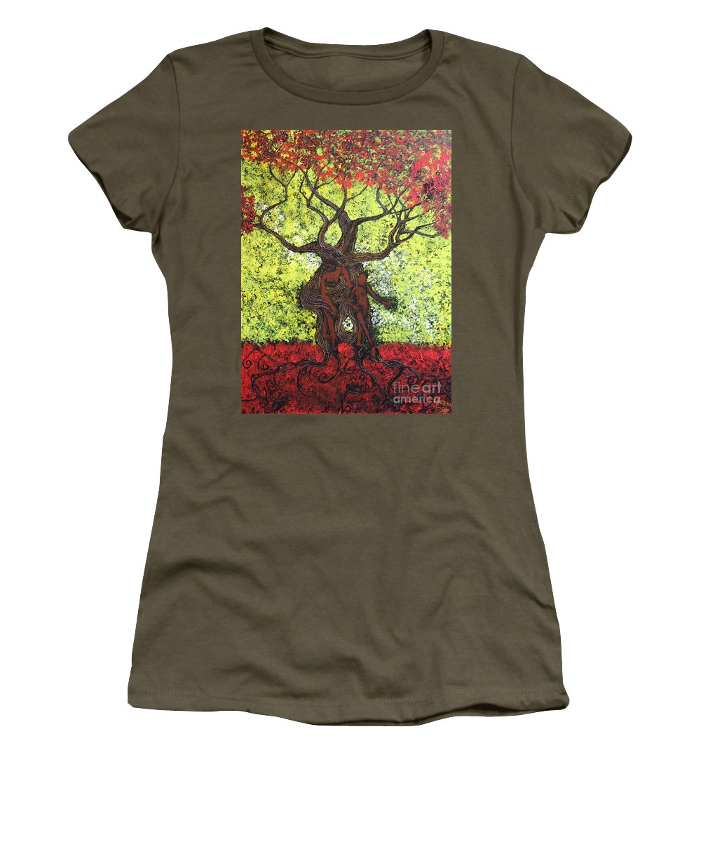 Impressionism Women's T-Shirt featuring the painting To The World You Go by Stefan Duncan