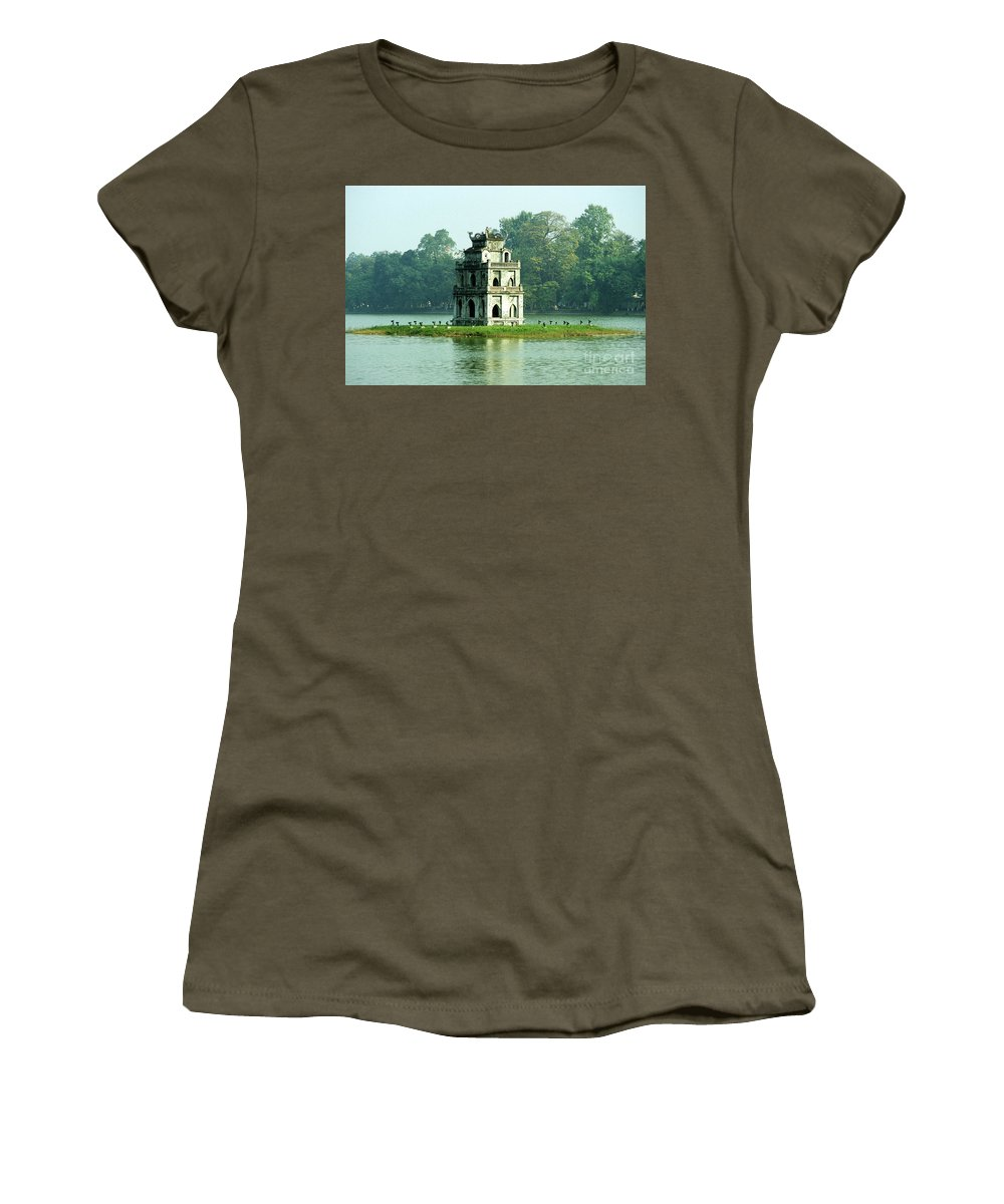 Vietnam Women's T-Shirt (Athletic Fit) featuring the photograph Tortoise Tower 01 by Rick Piper Photography