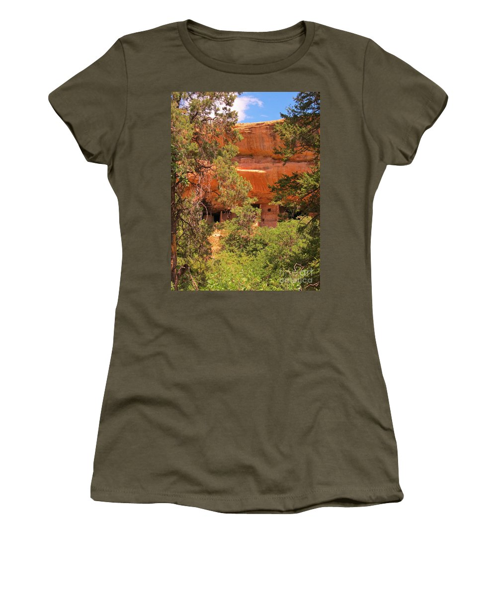 Tree Framing Women's T-Shirt featuring the photograph Tree Framing by John Malone
