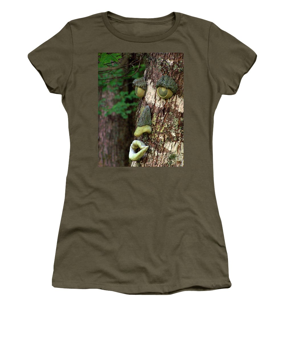 Trees Women's T-Shirt featuring the photograph Tree Man by Jennifer Robin