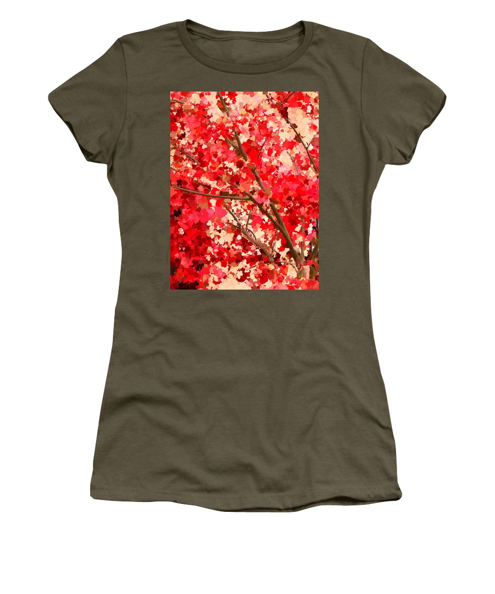 Tree Women's T-Shirt (Athletic Fit) featuring the painting Tree Of Love by Bruce Nutting