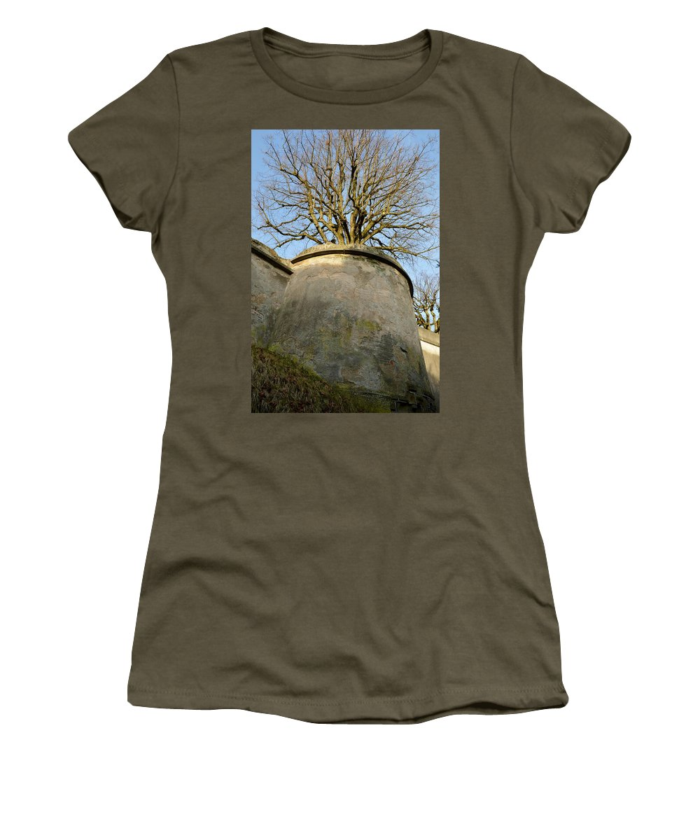Nature Women's T-Shirt featuring the photograph Tree On The Wall by Felicia Tica