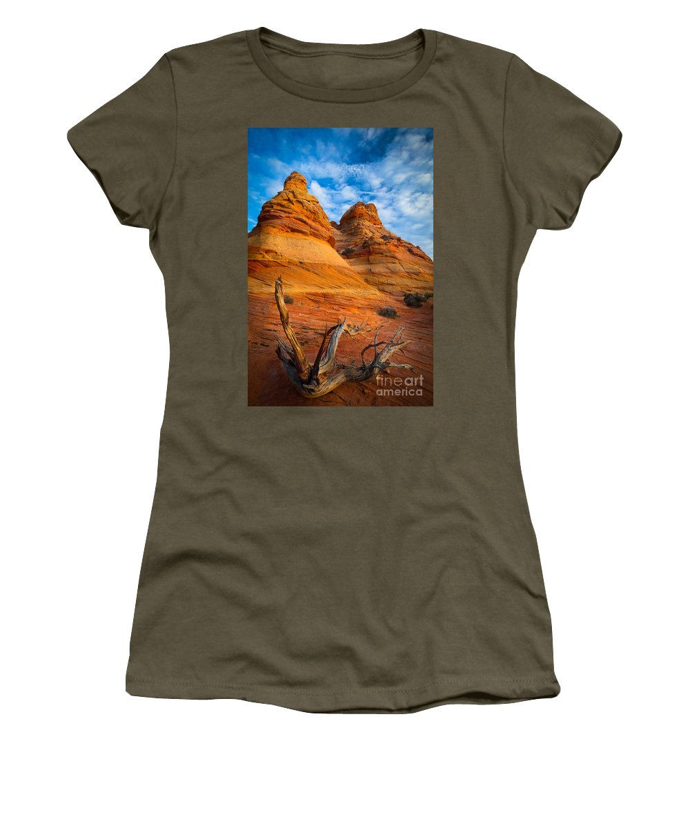America Women's T-Shirt featuring the photograph Tree Remnants by Inge Johnsson