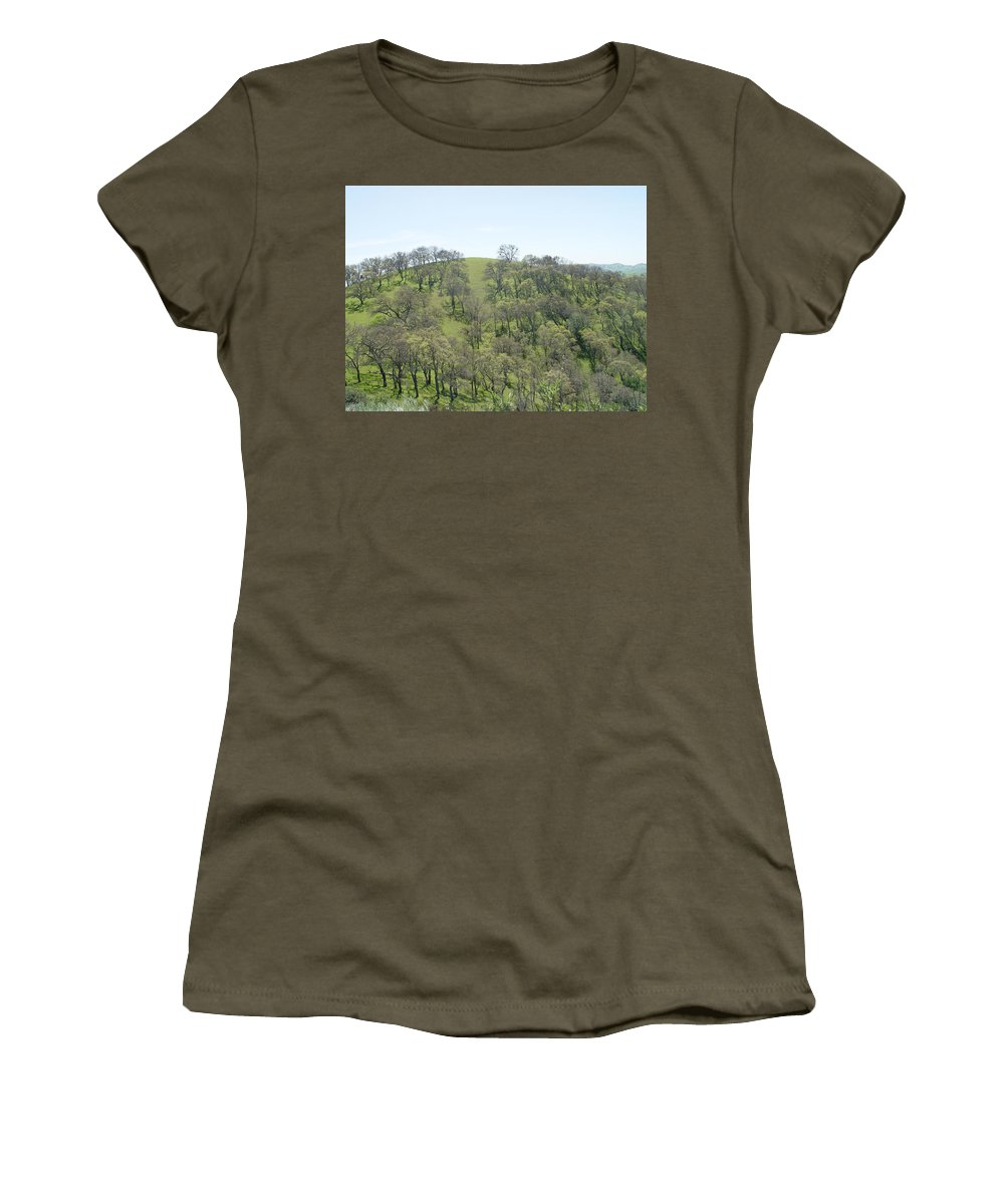 Rocks Women's T-Shirt featuring the photograph Tree Scape by Noa Mohlabane