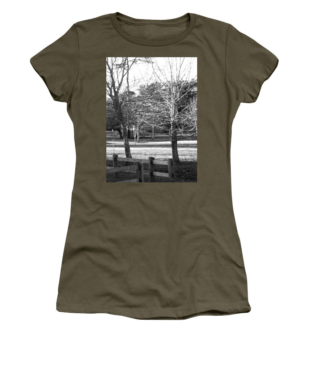 Trees Women's T-Shirt featuring the photograph Trees In The Park by Mechala Matthews