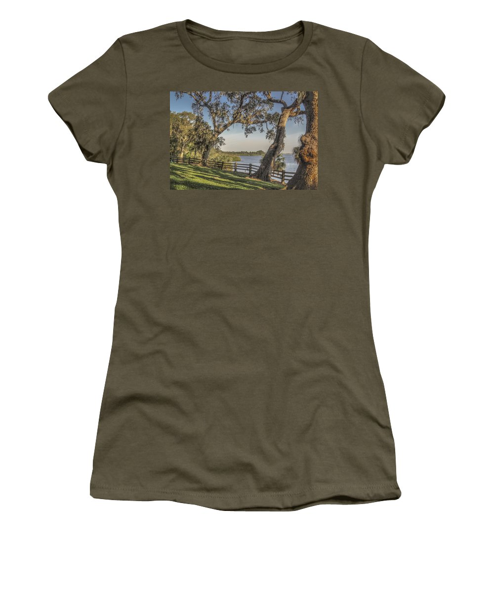 Florida Women's T-Shirt featuring the photograph Trees With A View by Jane Luxton