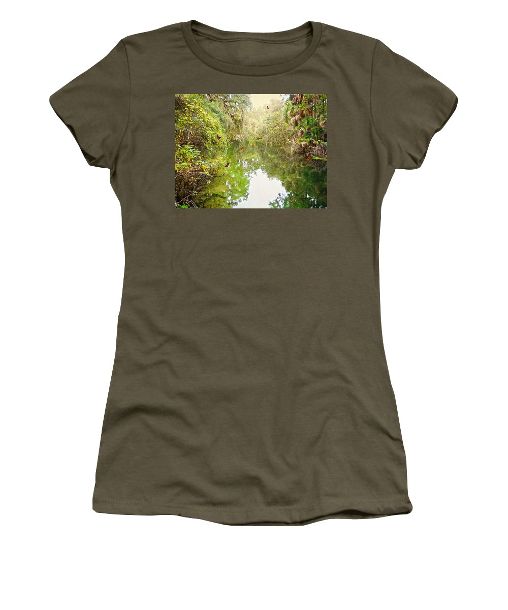 River Women's T-Shirt featuring the photograph Tropical Treasure by Judy Hall-Folde