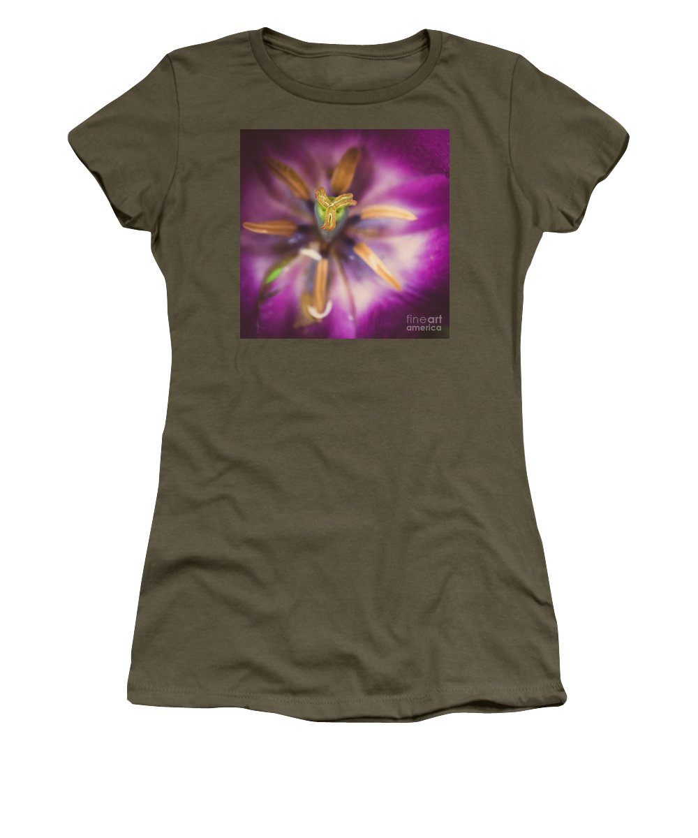 Blossom Women's T-Shirt featuring the photograph Tulips Star by Hannes Cmarits