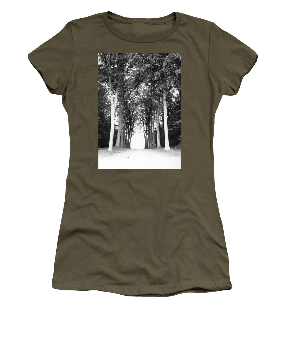 Trees Women's T-Shirt featuring the photograph Tunnel Of Trees by Christine Jepsen