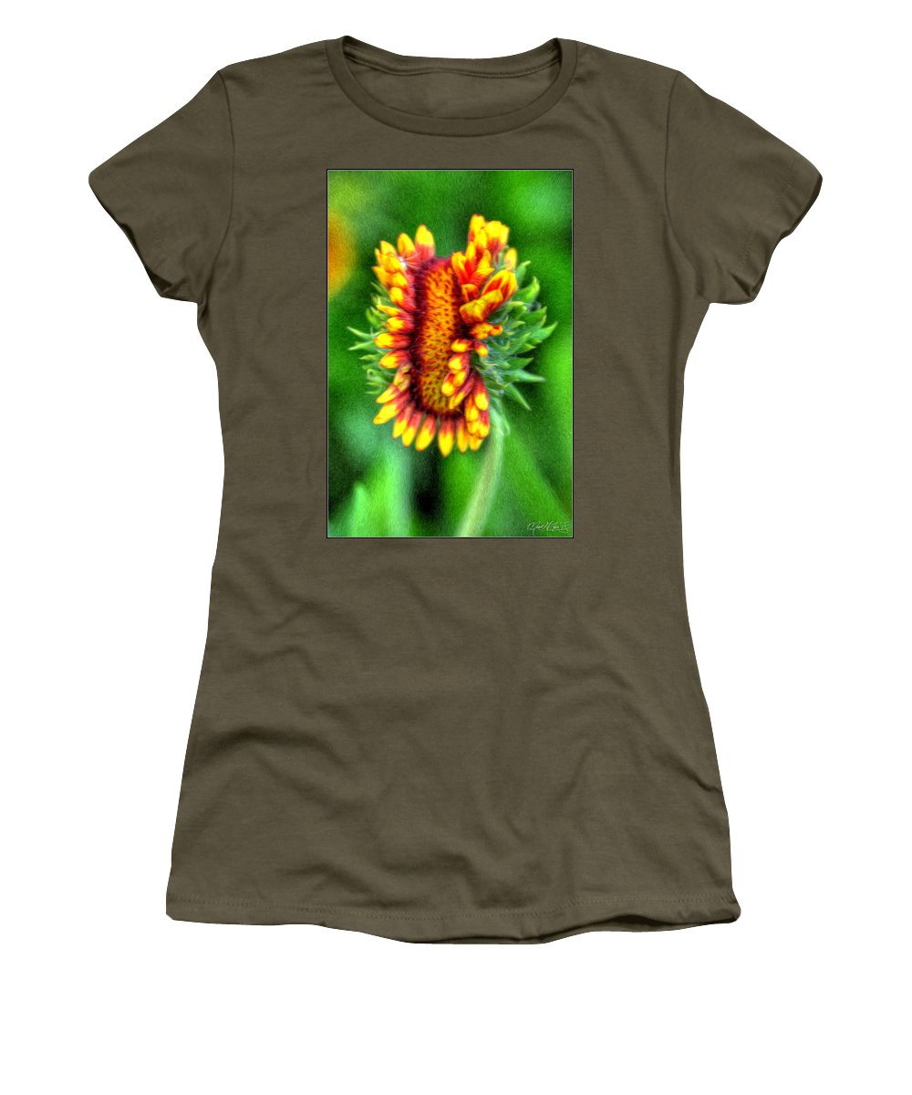 Flower Women's T-Shirt featuring the photograph Twins by Michael Frank Jr