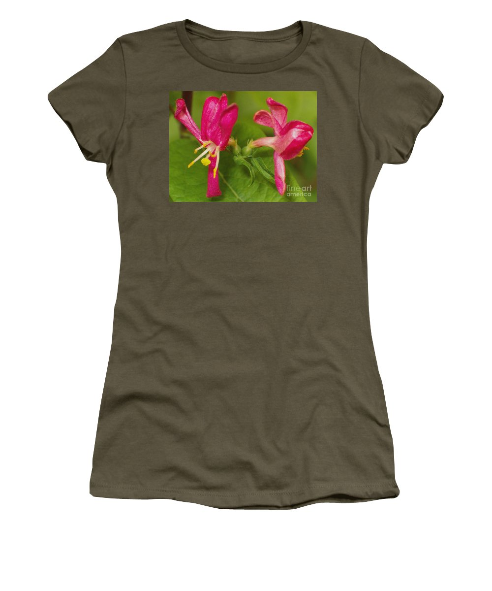 Flower Women's T-Shirt featuring the photograph Twins by Sara Raber