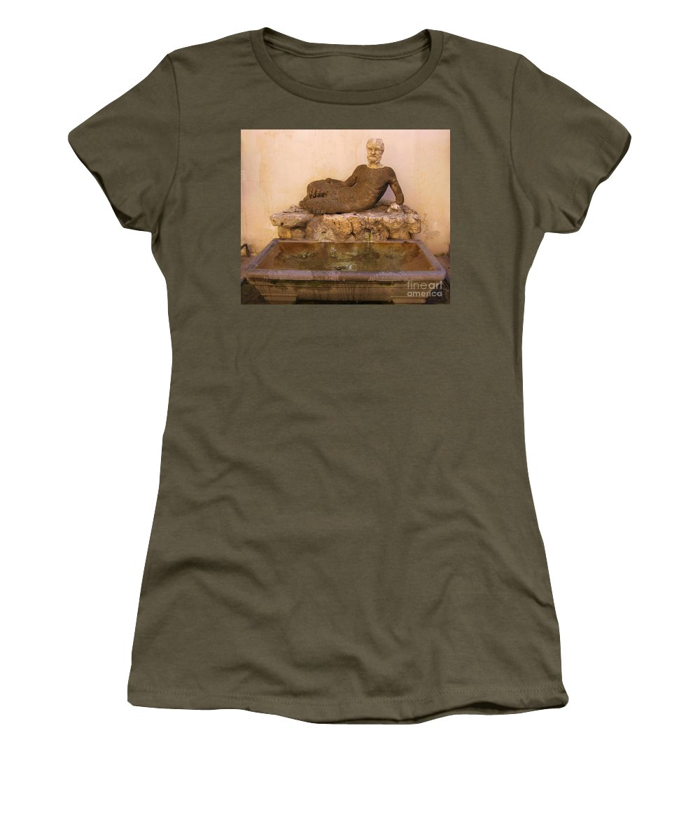 Uh I Would Not Drink Out Of This If I Were You Women's T-Shirt (Athletic Fit) featuring the sculpture Uh I Would Not Drink Out Of This If I Were You by John Malone Halifax photographer