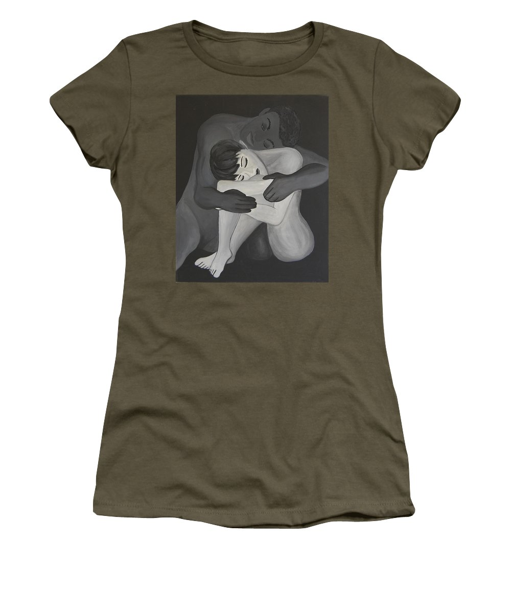 Understanding Women's T-Shirt featuring the painting Understanding by Gina Dsgn