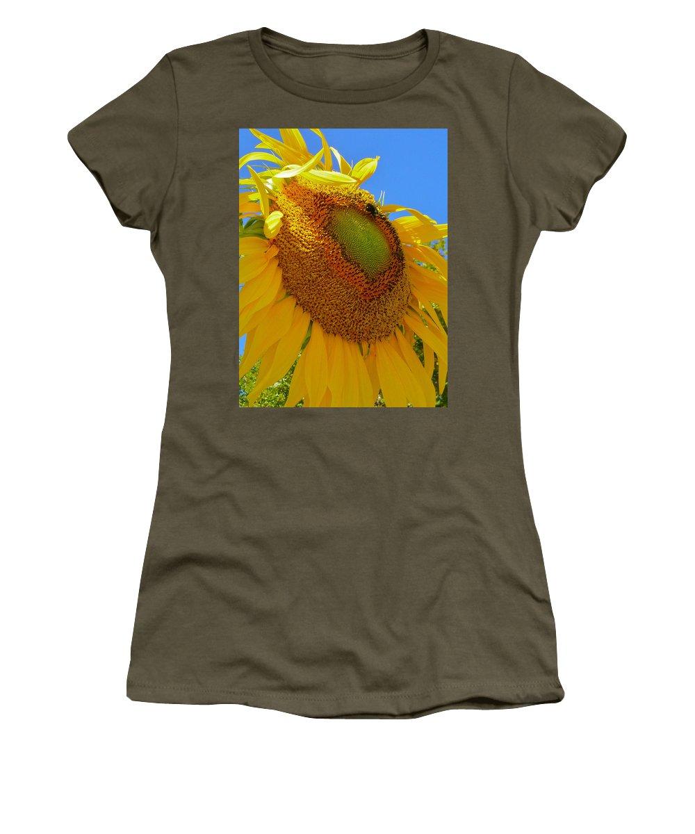 Flowers Women's T-Shirt featuring the photograph Unfolding 2 by Ellen Paull