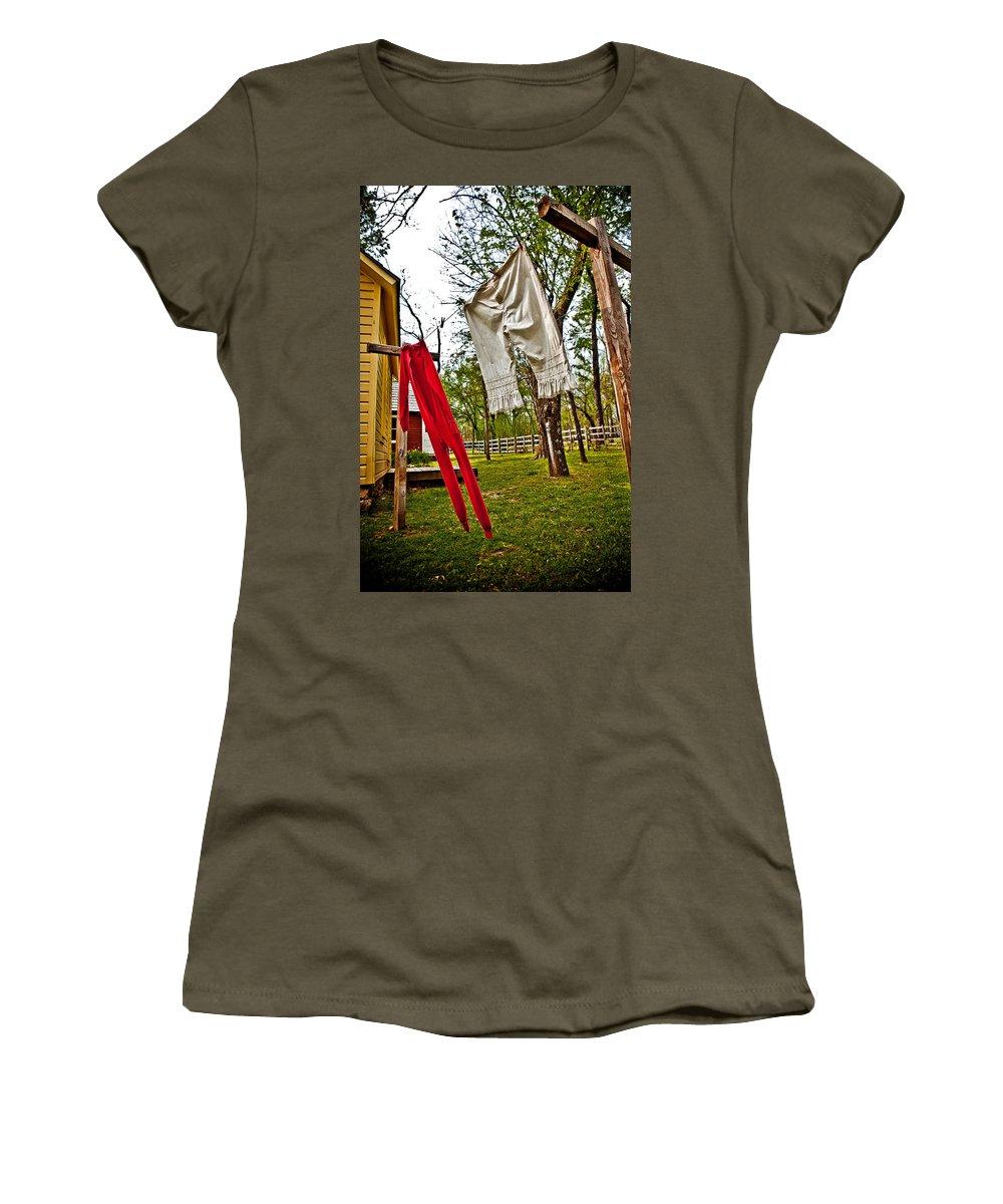 Cherokee Women's T-Shirt featuring the photograph Unmentionables Ani Tsalagi by Sennie Pierson