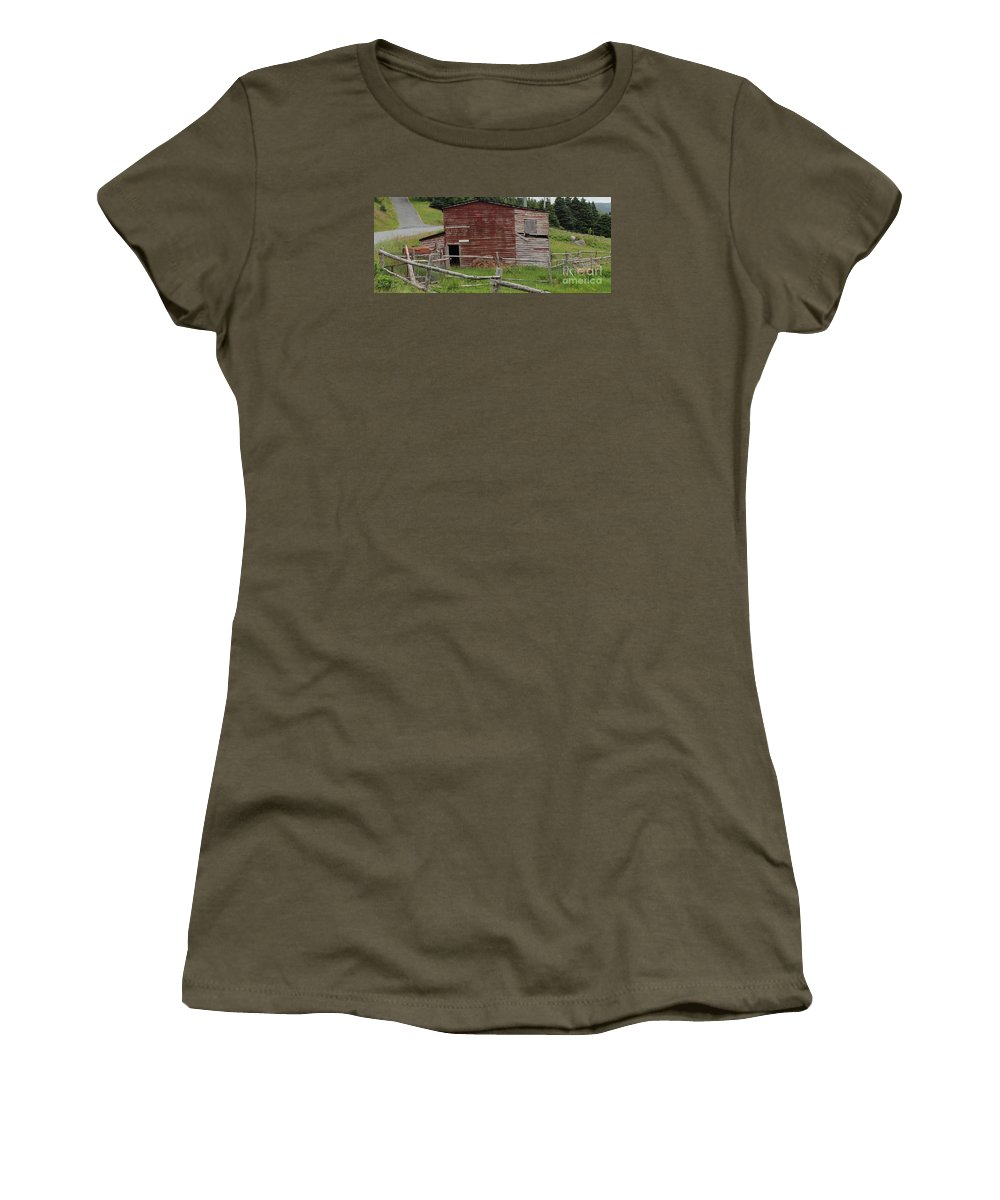 Unstable Lodgings Women's T-Shirt featuring the photograph Unstable Lodgings by Barbara Griffin