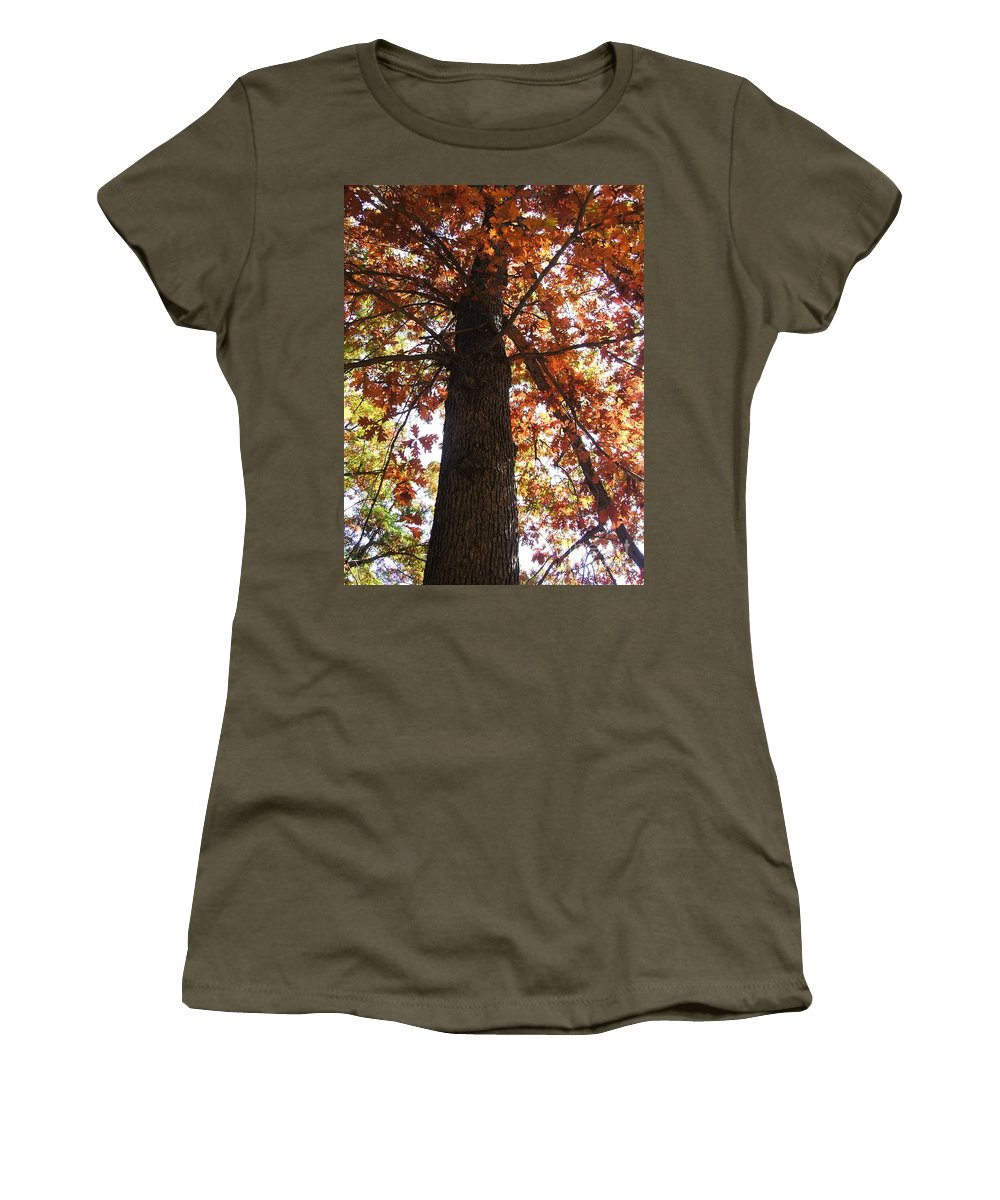 Tree Women's T-Shirt (Athletic Fit) featuring the photograph Up Fall by Minding My Visions by Adri and Ray