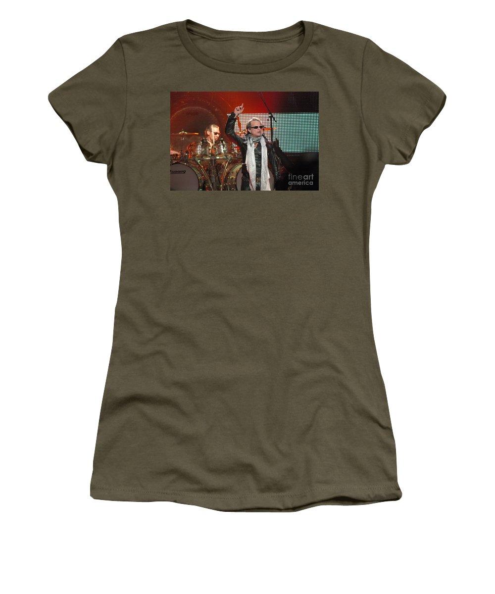 Van Halen Women's T-Shirt (Athletic Fit) featuring the photograph Van Halen-7149 by Gary Gingrich Galleries