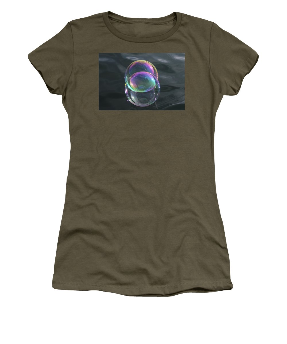 Vesica Women's T-Shirt featuring the photograph Vesica Piscis by Cathie Douglas