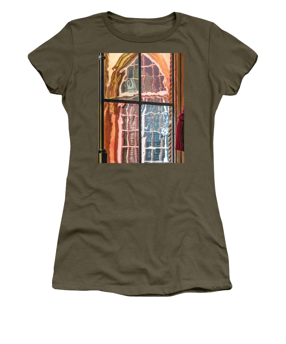 Window Women's T-Shirt featuring the photograph View From Another Window by Carolyn Marshall