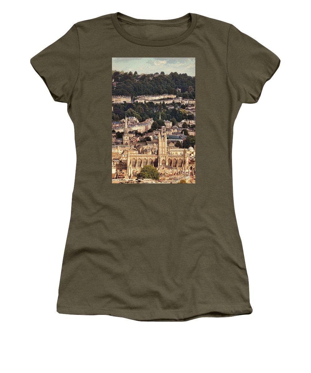 Town Women's T-Shirt featuring the photograph View Of Bath England by Jill Battaglia