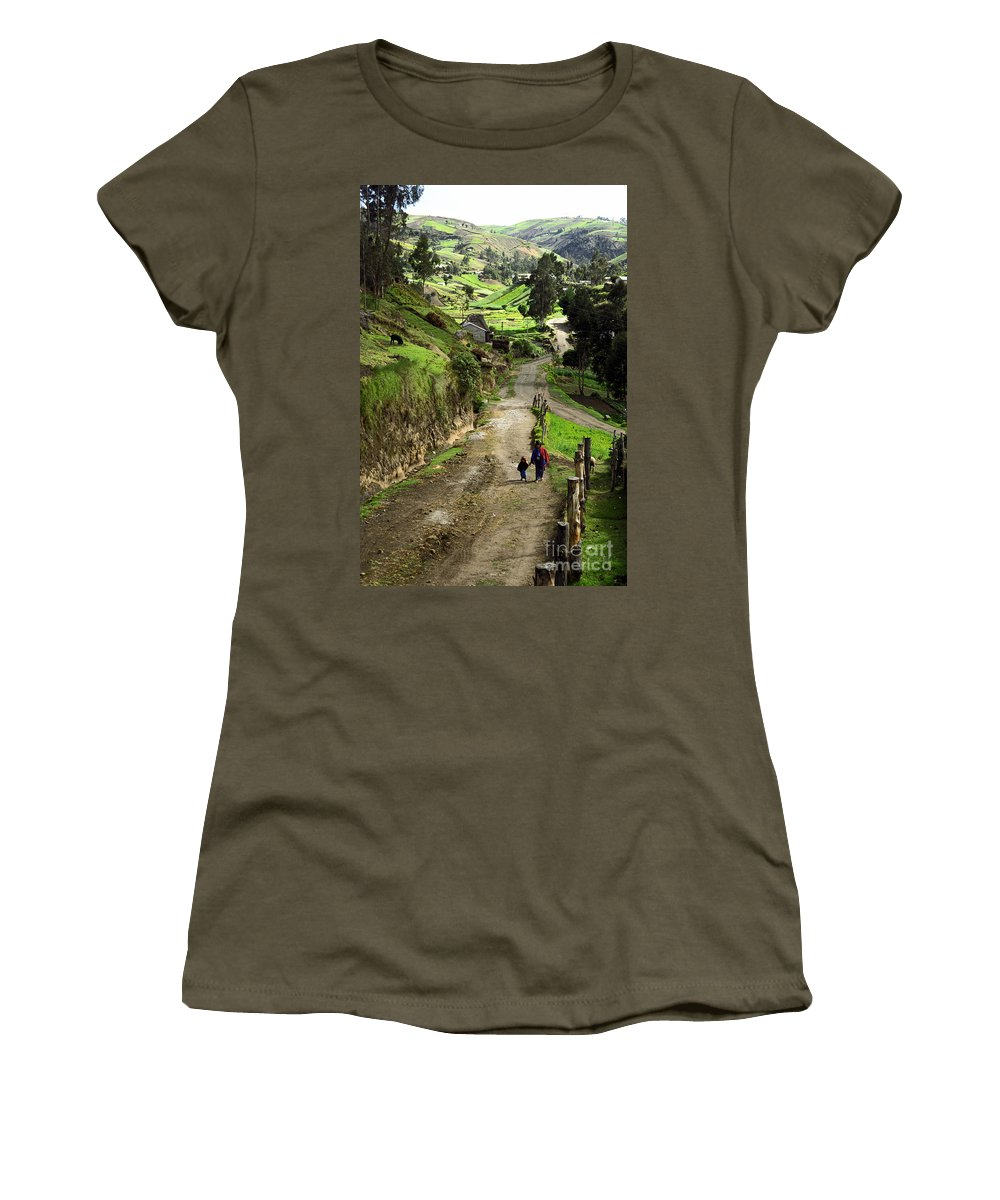 Ecuador Women's T-Shirt (Athletic Fit) featuring the photograph View Of Lupaxi by Kathy McClure