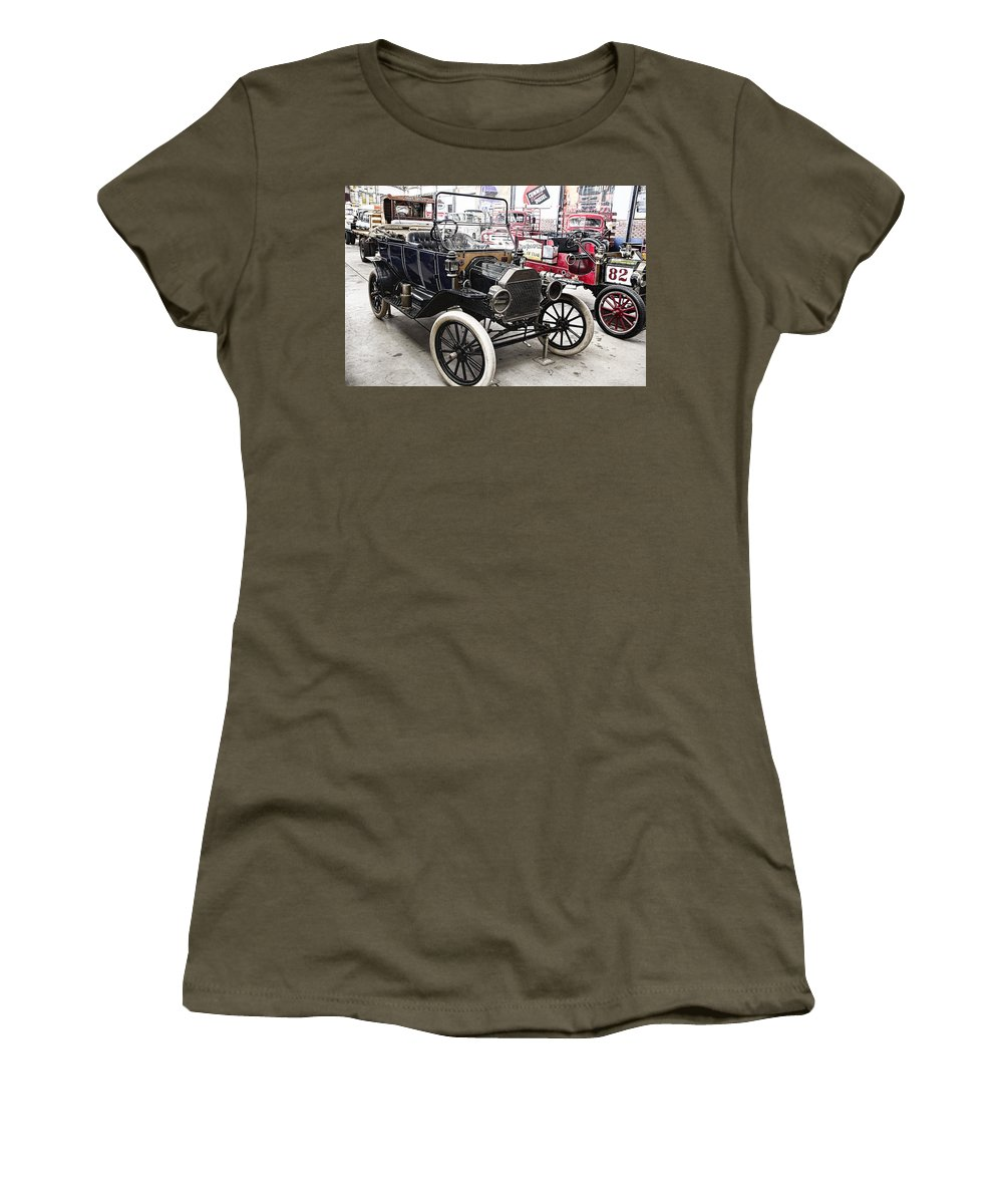 Vintage Women's T-Shirt featuring the photograph Vintage Ford Vehicle by Douglas Barnard