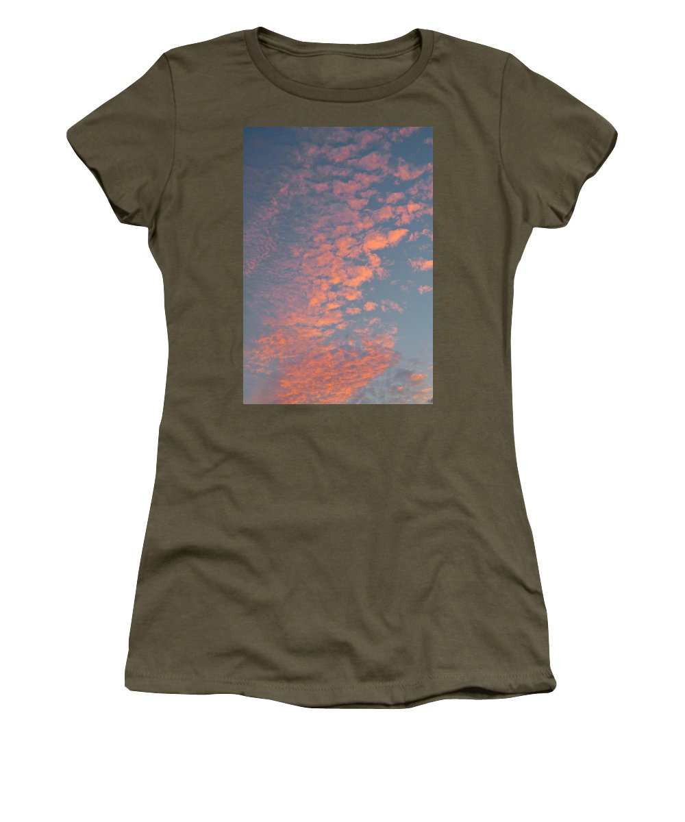 Clouds Women's T-Shirt featuring the photograph Waikiki Sunset Sky by Michele Myers