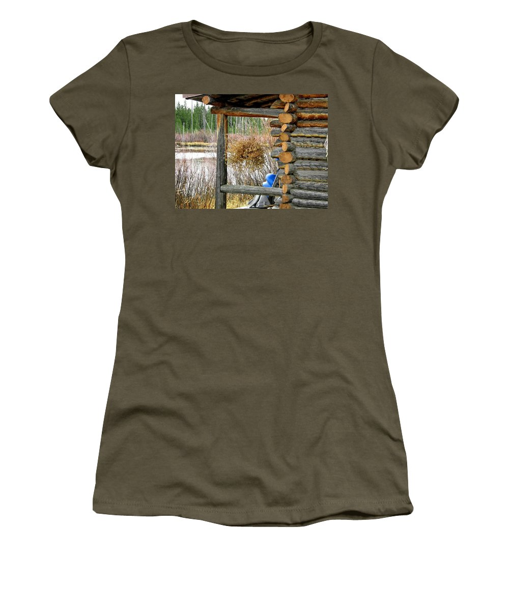 Island Park Women's T-Shirt (Athletic Fit) featuring the photograph Waiting For Next Year by Image Takers Photography LLC - Carol Haddon