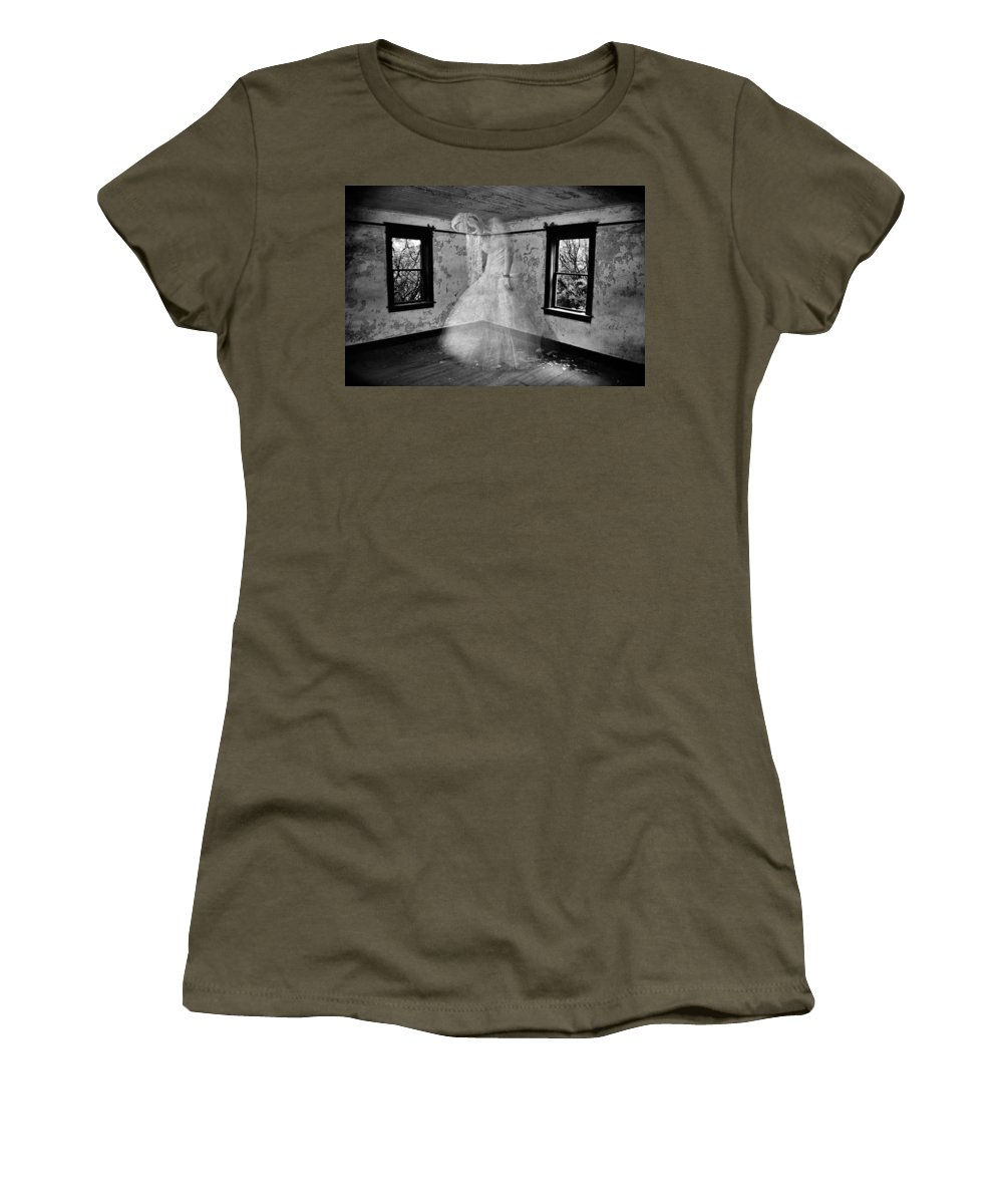 Walls Women's T-Shirt featuring the photograph Walls That Push by The Artist Project