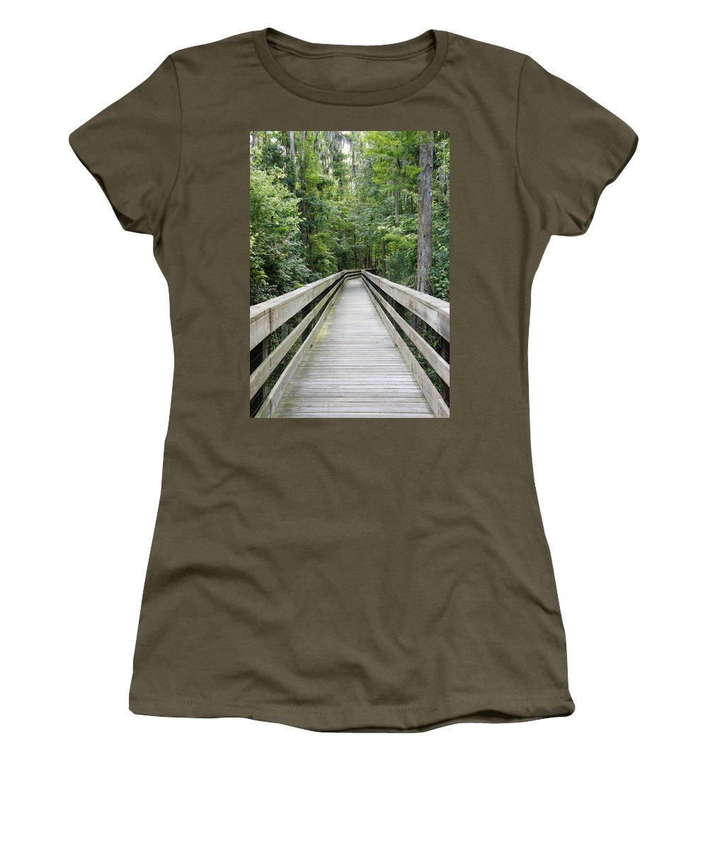 Florida Woods Women's T-Shirt featuring the photograph Wander by Laurie Perry