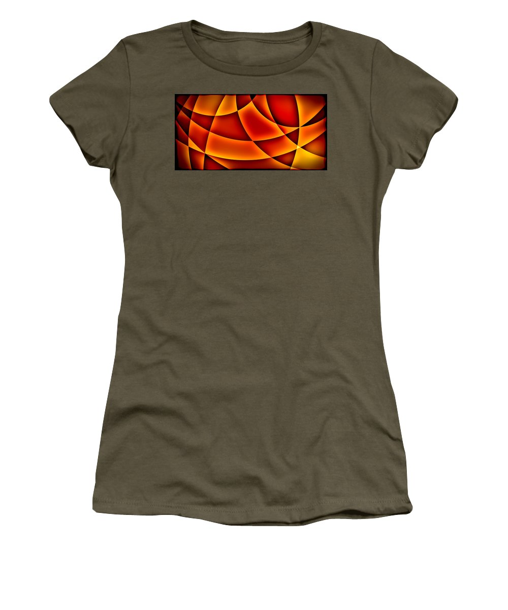 Digital Art Women's T-Shirt (Athletic Fit) featuring the digital art Warming Glow by Gabiw Art