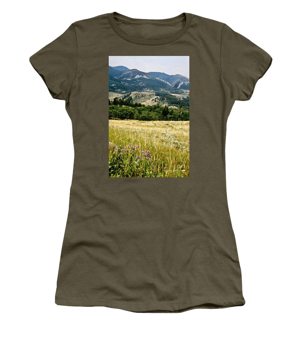 Wilderness Women's T-Shirt (Athletic Fit) featuring the photograph Washake Wilderness by Kathy McClure
