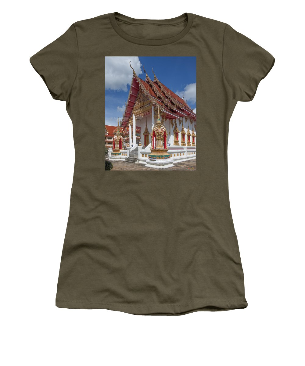 Scenic Women's T-Shirt featuring the photograph Wat Suwan Khiri Khet Ubosot Dthp268 by Gerry Gantt