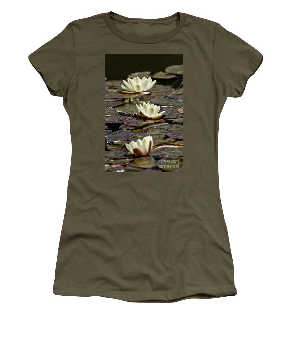 Water Lily Women's T-Shirt featuring the photograph Water Lily Pictures 64 by World Wildlife Photography