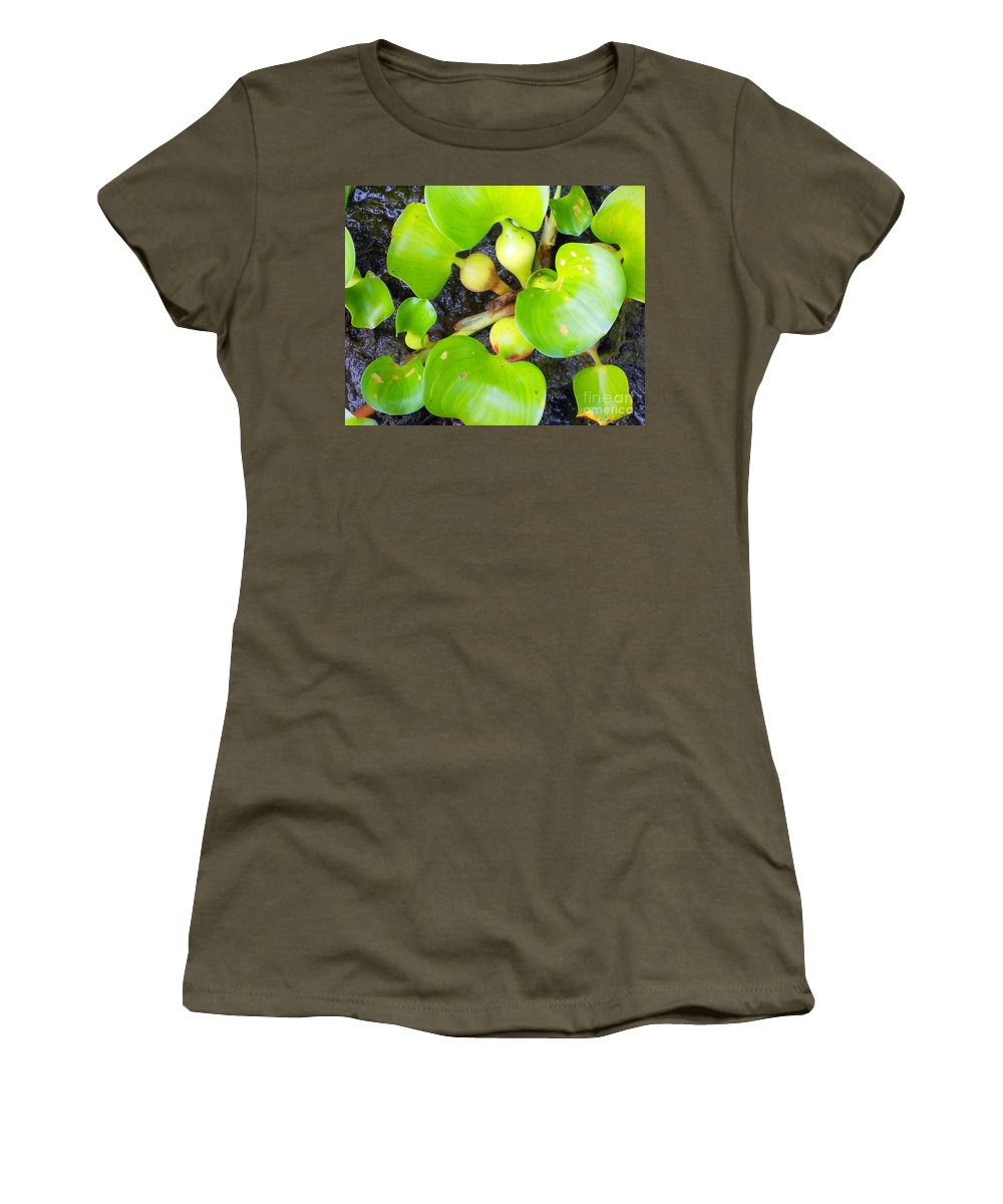 Plants Women's T-Shirt featuring the photograph Water Plants 1 by Nancy L Marshall
