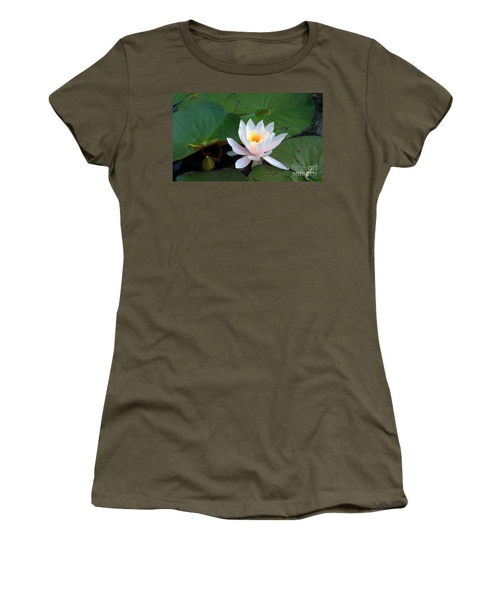 Botanical Women's T-Shirt featuring the photograph Water Star by Violeta Ianeva