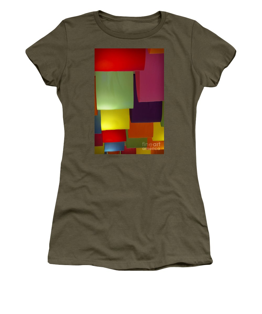 Color Women's T-Shirt featuring the photograph Waving The Color by Margie Hurwich