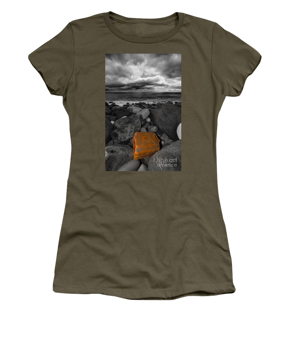 Gas Women's T-Shirt featuring the photograph We Fueled The Storm by Marco Andrade