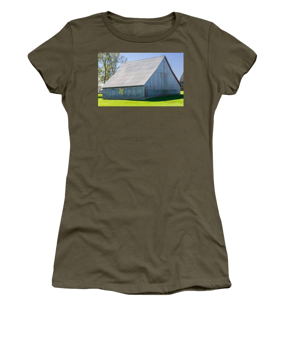 Barns Women's T-Shirt featuring the photograph Weathered Barn by Edward Peterson