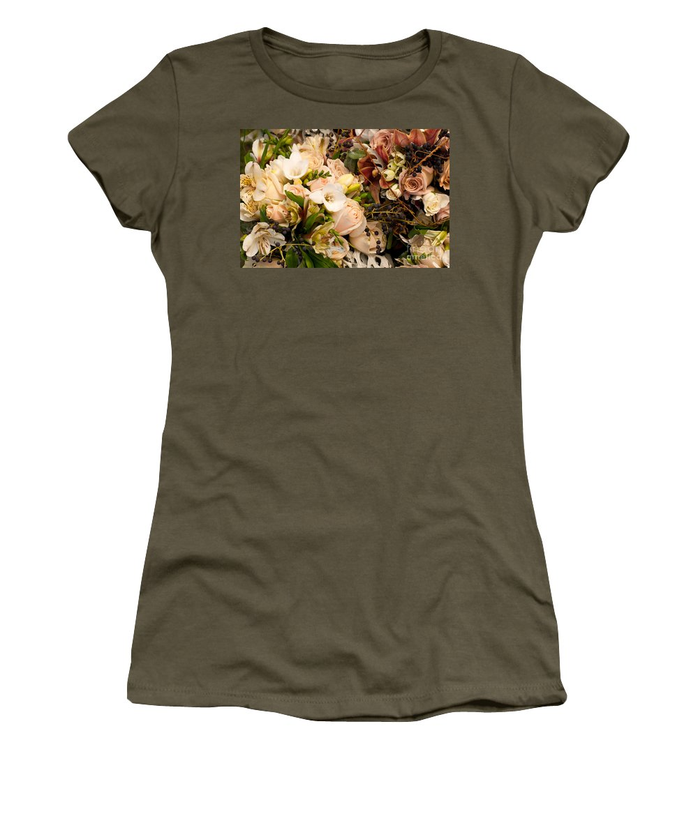 Wedding Women's T-Shirt featuring the photograph Wedding Bouquets 01 by Rick Piper Photography