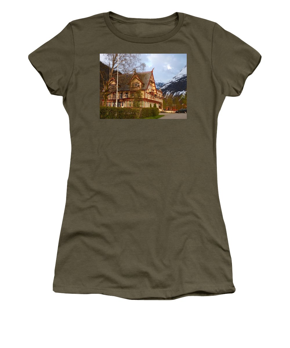 Women's T-Shirt (Athletic Fit) featuring the photograph Welcome To Hotel Union Oye by Katerina Naumenko