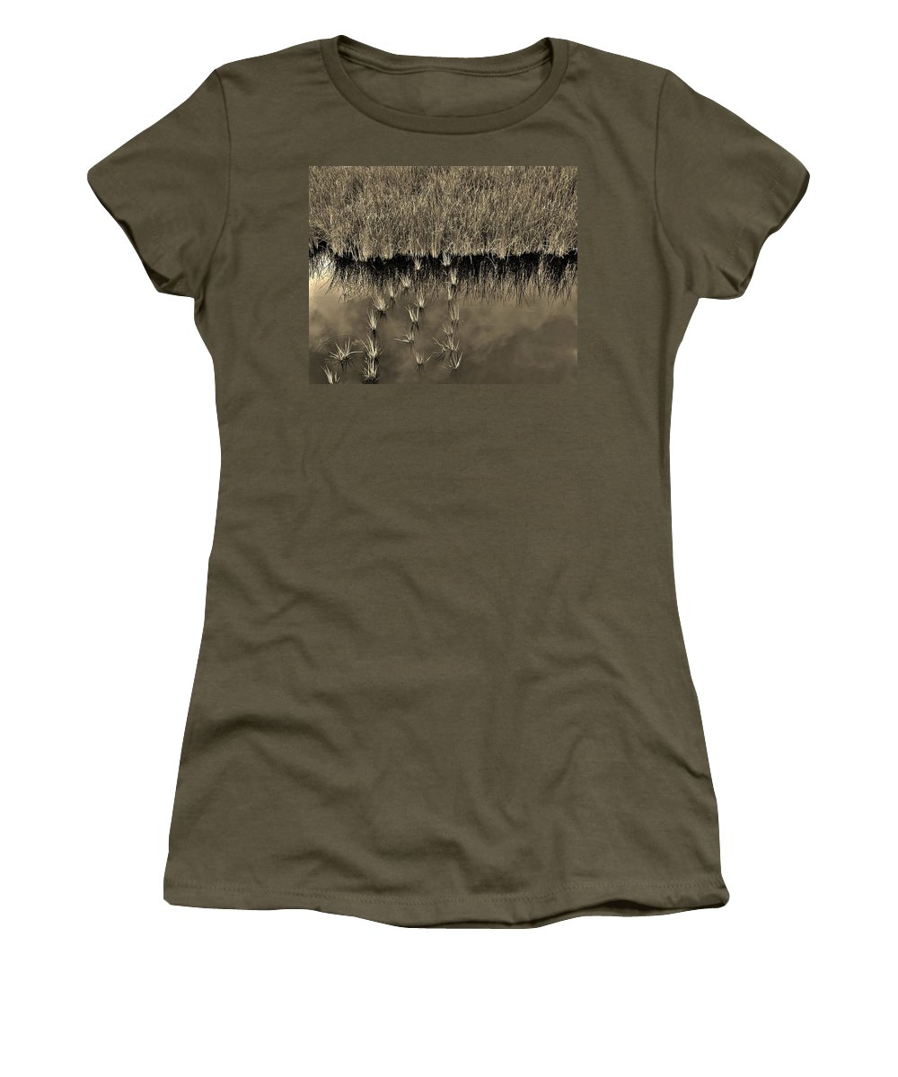Waterscape Women's T-Shirt featuring the photograph Wetland Sky by Bob Geary