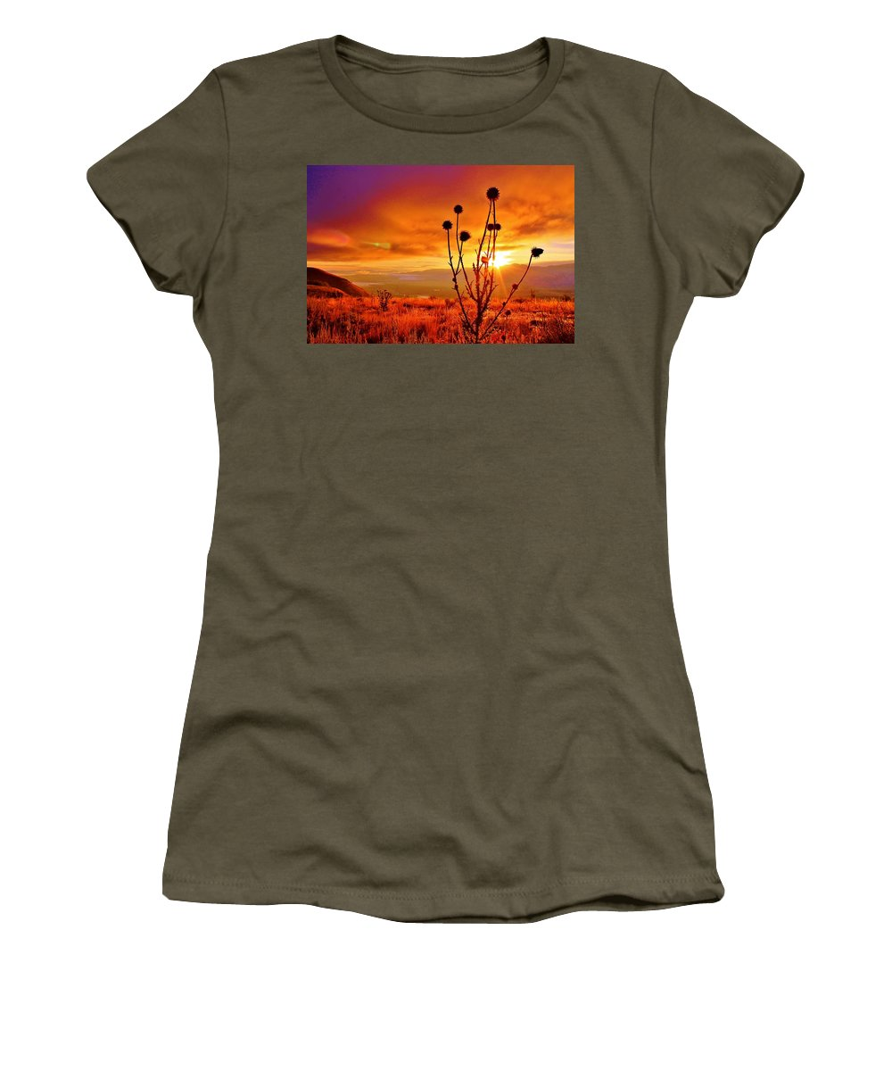 Jackson Hole Women's T-Shirt featuring the photograph What A Morning by Catie Canetti