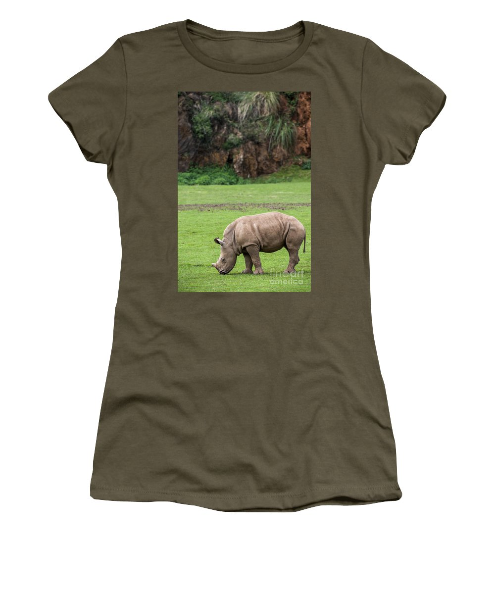 White Rhino Women's T-Shirt featuring the photograph White Rhino 14 by Arterra Picture Library