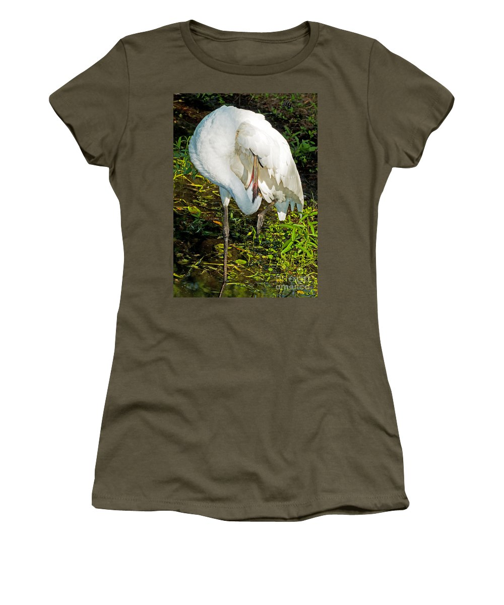 Nature Women's T-Shirt featuring the photograph Whooping Crane by Millard H. Sharp